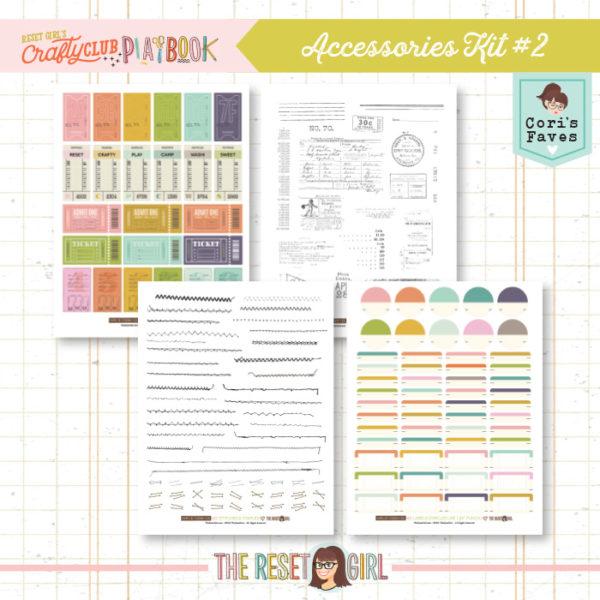 The Crafty Club PlayBook Accessories Kit Vol.2