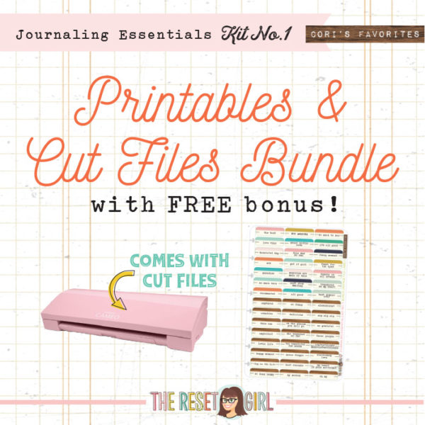 Journaling Essentials - Kit No. 1 Bundle With Printables, Cut Files and the BONUS Cut File