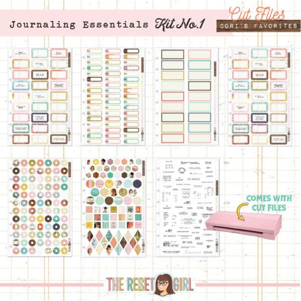 Journaling Essentials - Kit No. 1 Cut Files