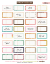 Journaling Essentials - Kit No. 1 Printables