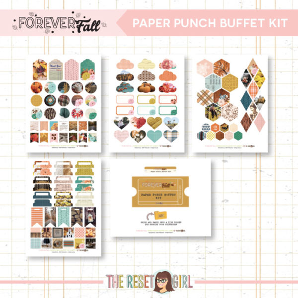 Forever Fall Paper Punch Buffet Kit