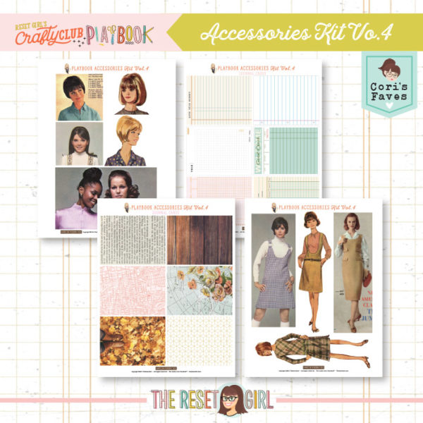 The Reset Girl's Crafty Club PlayBook Accessories Kit Vol.4