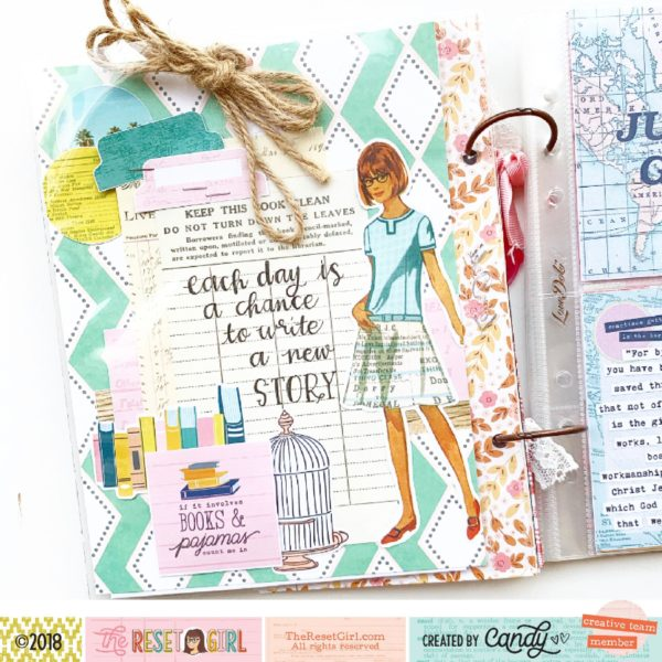 Junk Journal Page – by Candy