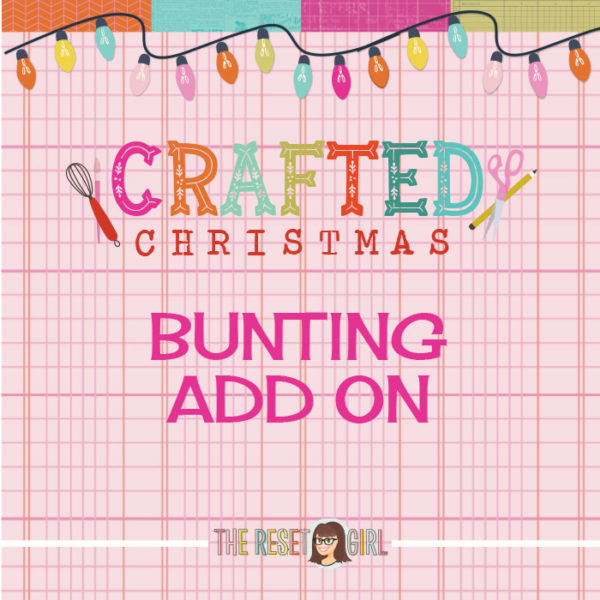 Crafted Christmas Bunting Add On